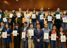 Premian a bachilleres triunfadores de la Octava Olimpiada Mexicana de Filosofía