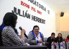 Visita el escritor Julián Herbert a jóvenes de la Preparatoria 12 como parte del programa Ecos de la FIL