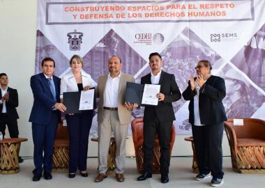 Acuerdan la Preparatoria 16 y la Comisión Estatal de los Derechos Humanos Jalisco colaboración y vinculación conjunta